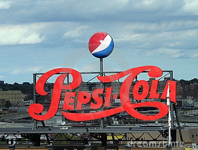 Pepsi Cola Vintage Sign Editorial