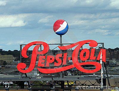 Pepsi Cola Vintage Sign Editorial