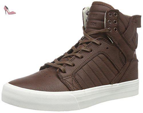 Supra Vaider, Sneakers Hautes Homme, Noir (Black Black Red), 42 EU