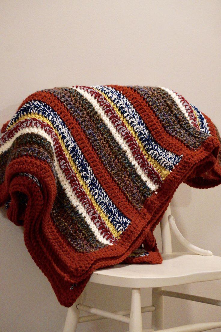 """Blanket/ Afghan/ Crochet Blanket/ """"Autumn Stripes"""" by louisandjane on Etsy https://www.etsy.com/ca/listing/477685218/blanket-afghan-crochet-blanket-autumn"""