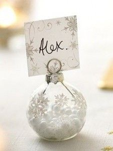 Winter wedding ideas - Ornament Place cards