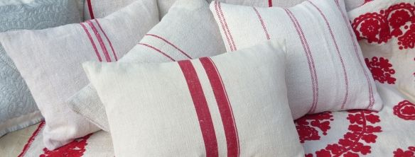 Antique and vintage linen, hemp and embroidery, vintage Hungarian grainsack linen