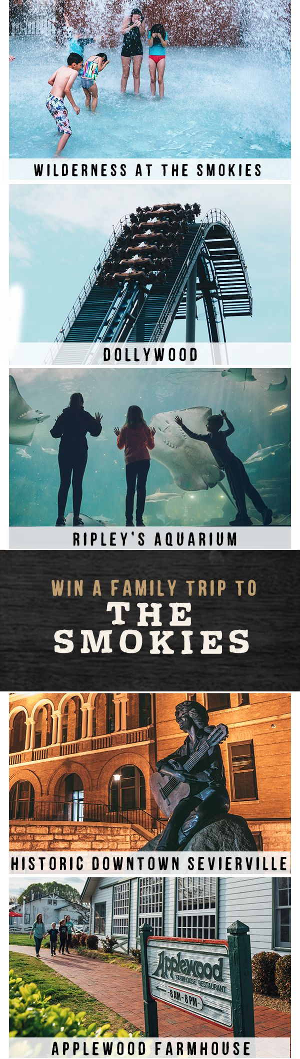 We're giving away a free family trip to the Smokies. Simply match all the same amazing spots in this pin at TNVacation.com, and you'll be entered for a chance to win!