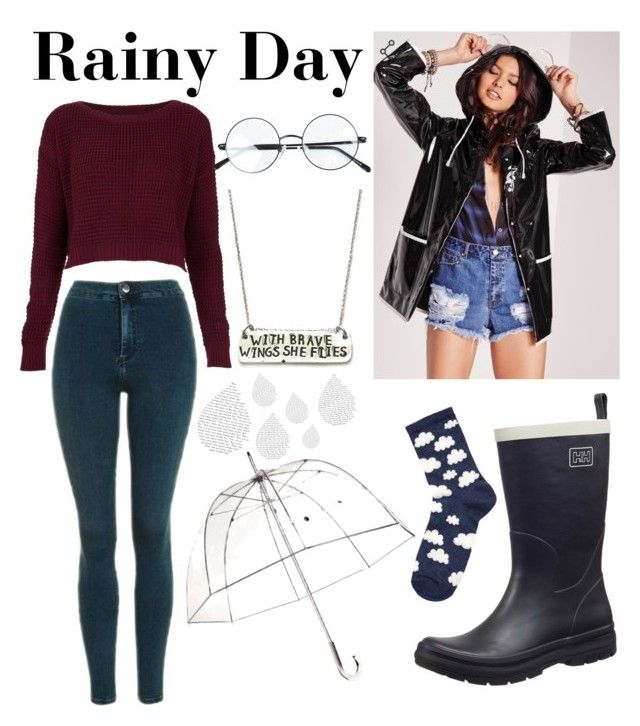 """""""☔️ Rainy Day ☔️"""" by jessie-makes-outfits on Polyvore featuring Totes, Topshop, Helly Hansen, Accessorize and Alisa Michelle"""