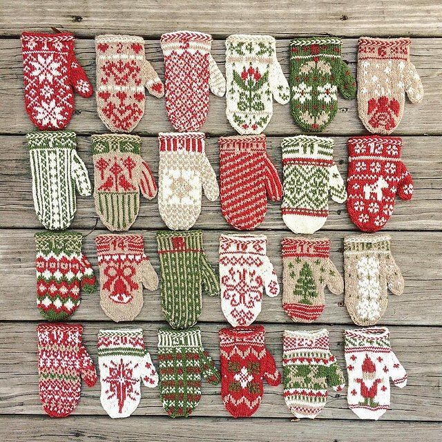 """3,887 Likes, 63 Comments - Knit Picks (@knit_picks) on Instagram: """"What an adorable ensemble! Krystina knit these lovely Advent Mittens in our Palette yarn (Free…"""""""