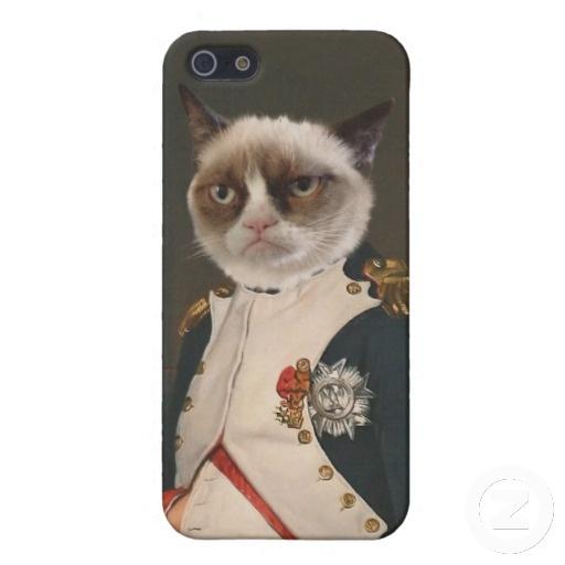 Grumpy Cat Classic Painting iPhone 5 Cover #GrumpyCa #iPhone5Cases $35.95