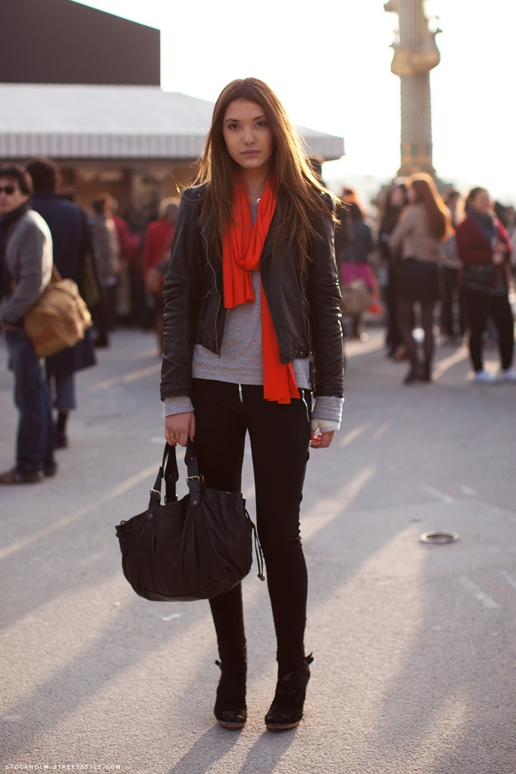 Making a statement with color is easy if you keep the rest of the outfit to one or two neutrals