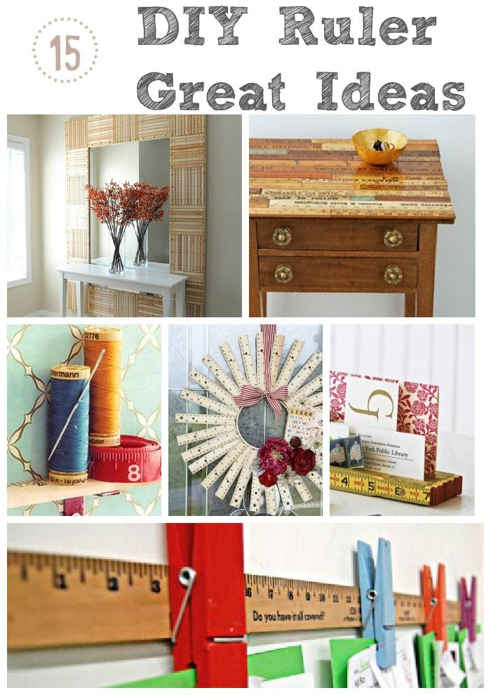 Creative DIY crafts using rulers! Fun ideas perfect for the back to school season.