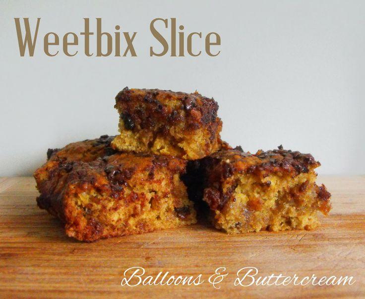 Balloons & Buttercream: Lunch Box Recipes - Weet-bix Slice