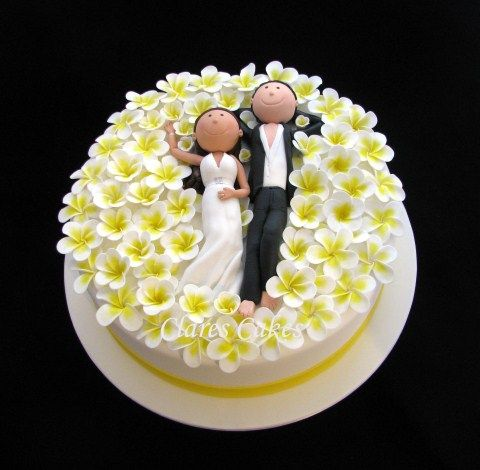 Such a cute wedding cake! || By Clare's Cakes. || #wedding #cake