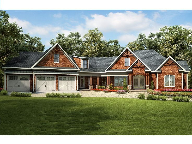 111 best luxury house plans images on pinterest home for Luxury craftsman house plans