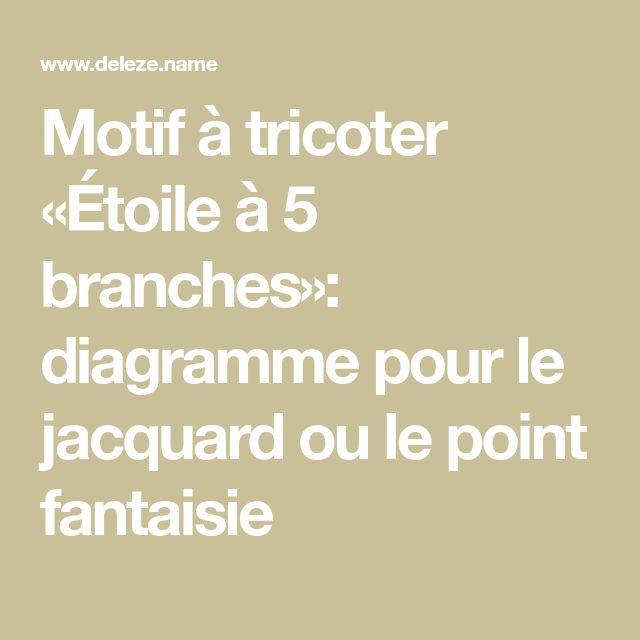 Motif à tricoter «Étoile à 5 branches»: diagramme pour le jacquard ou le point fantaisie
