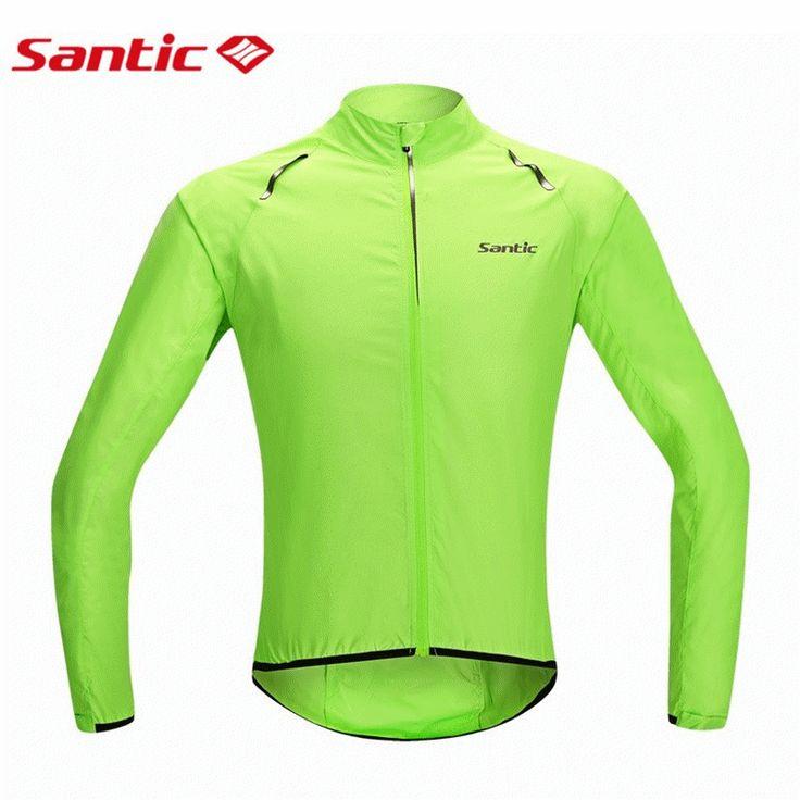 Santic 남성 자전거 레인 코트 저지 자전거 방풍 재킷 방수 피부 코트 녹색 M5C07015V