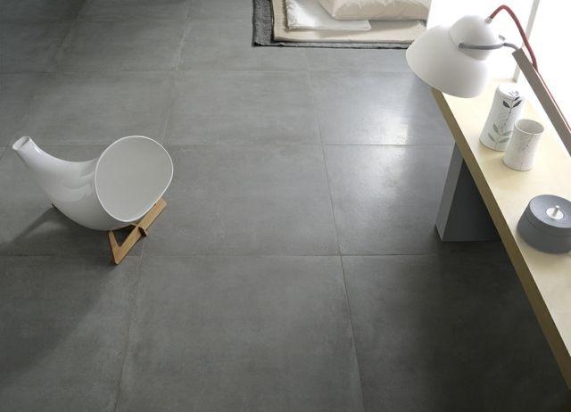 Stein Boden Fliesen Dunkle Farbe Wohnzimmer Puristisch