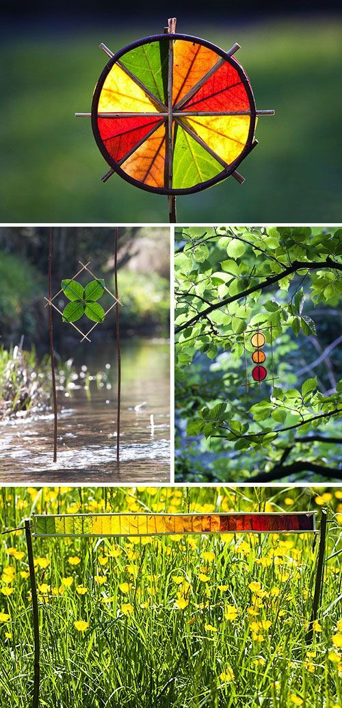 Great Fall Nature Art examples... try your own at home! #natureart
