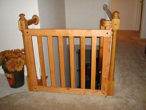 wood child safety gate