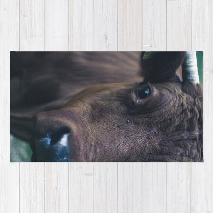 Cow Rug by Mixed Imagery | Society6