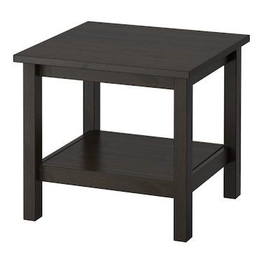hemnes side table black brown 55x55 cm - Table A Roulette Ikea