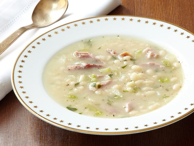 Senate Bean Soup from FoodNetwork.com-- I've made this several times. It is soooo good and easy to make.