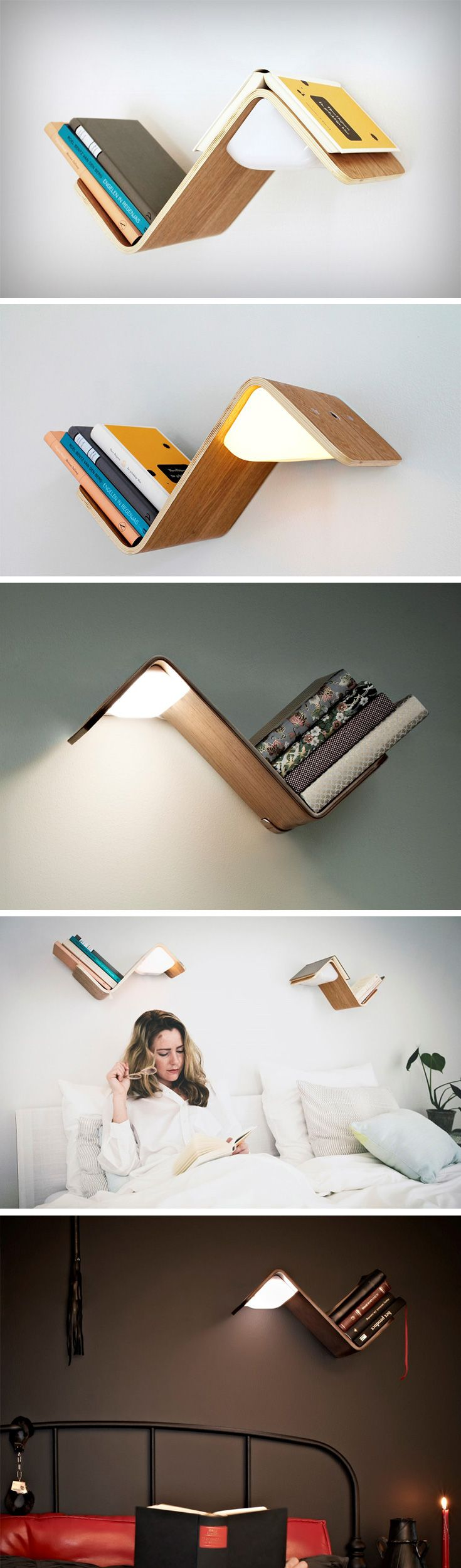 Built to act as a reading lamp, bookshelf, and a bookmark, all in one product, the Lililite is just beautiful good design. Also on the surface are proximity sensors that can tell when your book is on it and when it isn't, knowing that the minute you lift the book off the shelf to read it, so that it can switch on or off its light accordingly. BUY NOW!