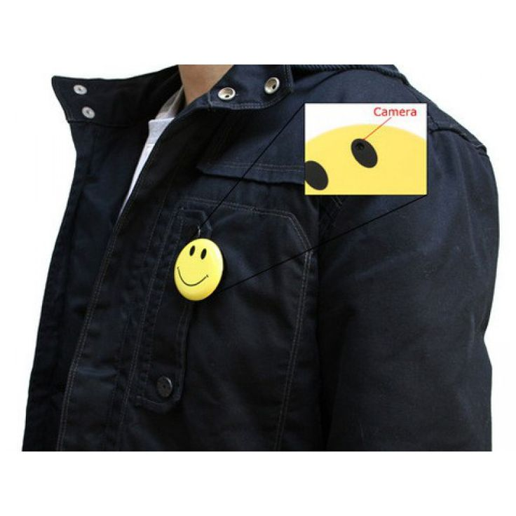$40 Smiley Pin with Hidden Video Camera