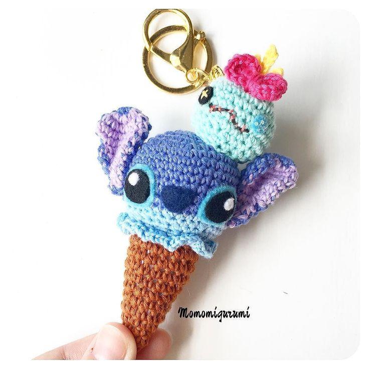 Stitch ice cream cone amigurumi