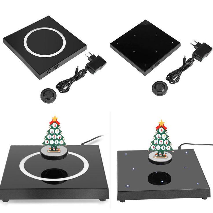 Cool LED Rotating Magnetic Levitation Floating Show Shelf Display Platform JS #Unbranded