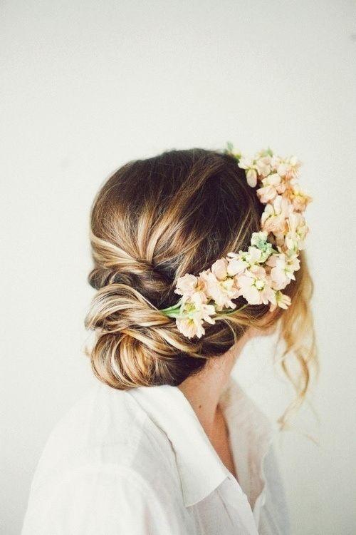 floral crown, flower crown, wedding hair, boho, curly, wavy, beach hair