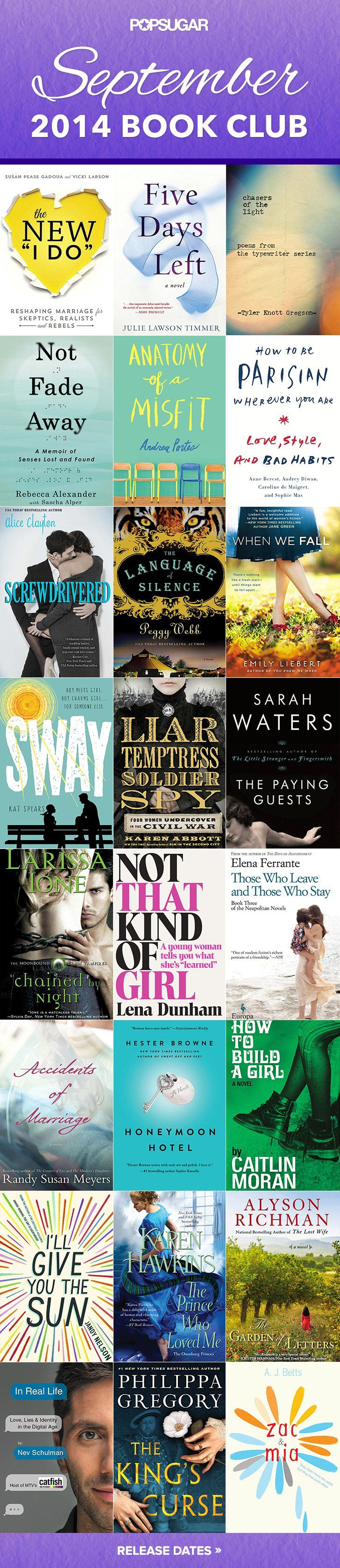 24 Of September's Sexiest New Books