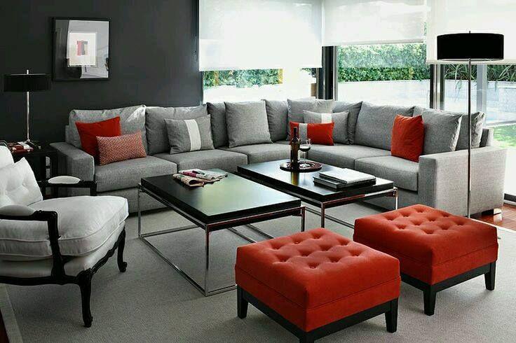 Decoración Interior En Rojo Decoracion En Rojo Para Salas Color Rojo Para Interior De Casa Como Decorar La Sala Decoracion De Interiores Sala De Estar Negra