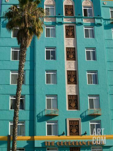 The Georgian Hotel, Santa Monica, Los Angeles, California Photographic Print by Walter Bibikow at Art.com
