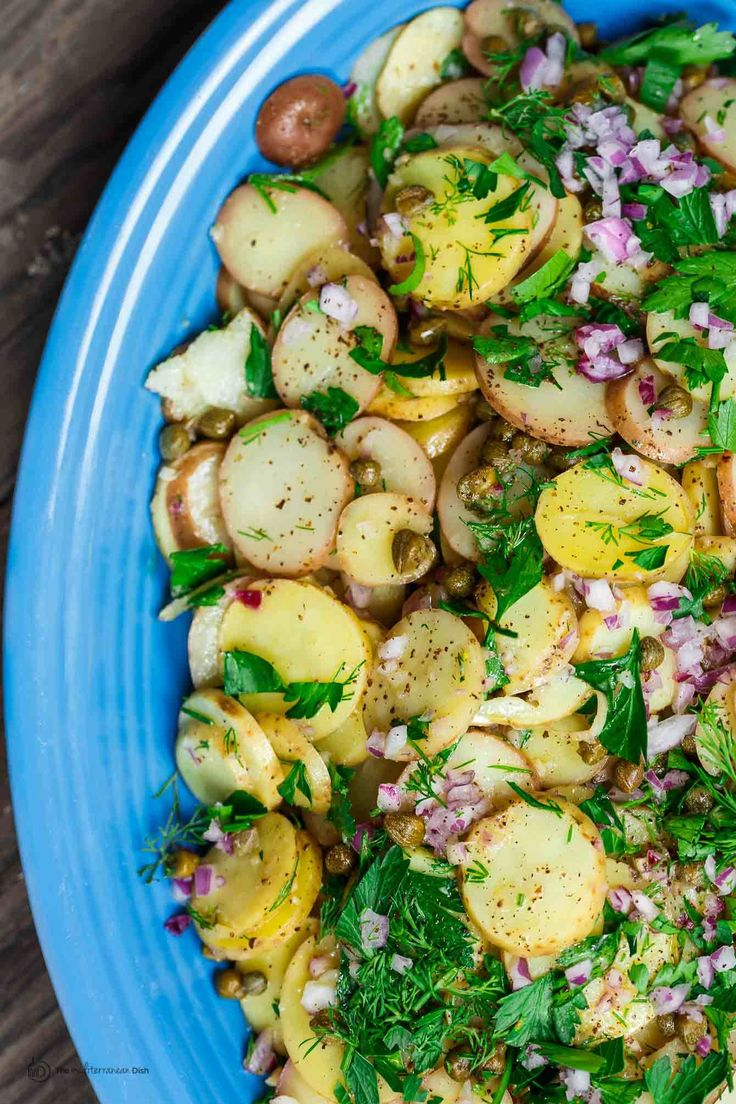 If you're looking for a light; no-mayonnaise; best potato salad out there…you have just found it! This mustard potato salad, prepared Mediterranean style, will not disappoint. Every culture, and almost every household, has its own treasured potato salad recipe. Mine is this mustard potato salad recipe; it's one with Mediterranean influence, and perhaps even a... Read More »