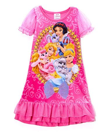 Love this Pink Princess Ruffle Nightgown with Palace Pets on #zulily! #zulilyfinds Only $12.99, normally $28!!