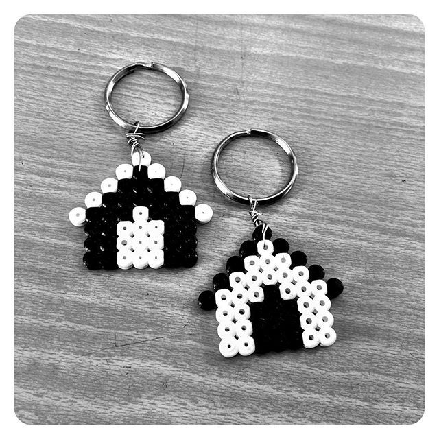 Home keyrings hama beads  by brevik_slojd