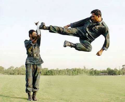 SSG of Pakistan Army. Practicing Martial Art