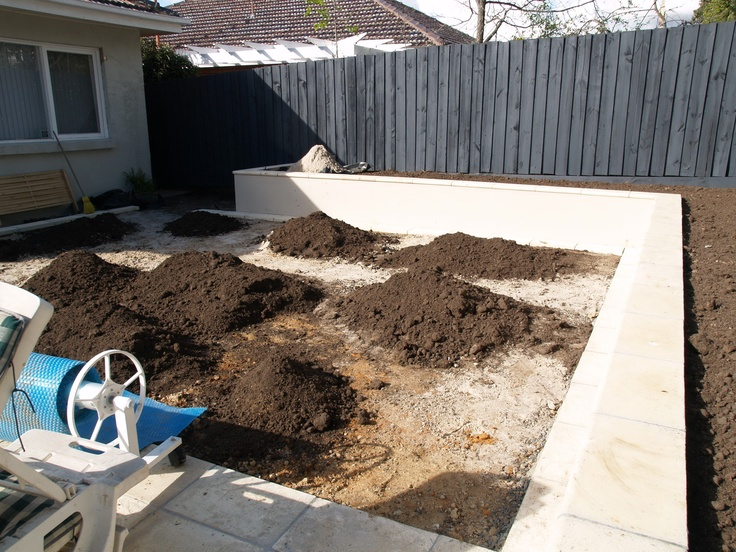 Soil for the lawn area