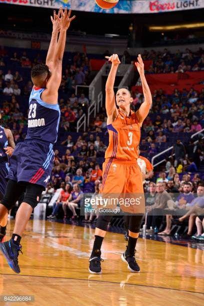 Diana Taurasi of the Phoenix Mercury shoots the ball against the Atlanta Dream on September 3 2017 at Talking Stick Resort Arena in Phoenix Arizona...