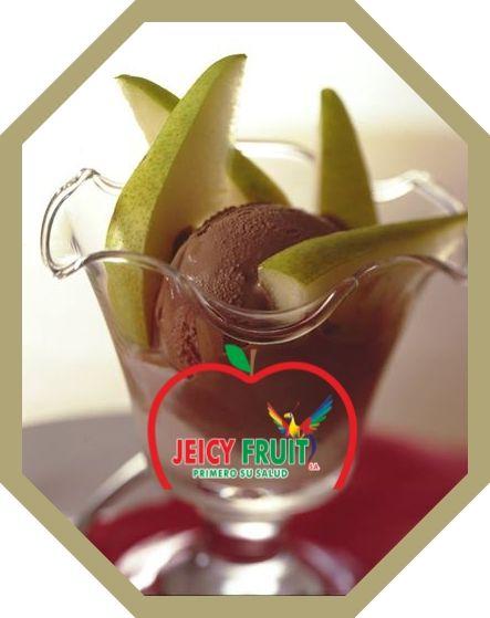 Que tal si después de tu almuerzo disfrutas una rica copa de Peras de #Jeicyfruit con helado... Seria Genial