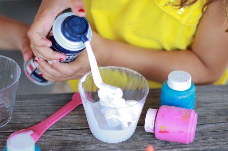 Cómo hacer pintura casera con crema de afeitar