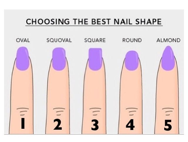Different Types Of Nail Shapes Nails Different Nail Shapes Acrylic Nail Shapes Nail Shapes