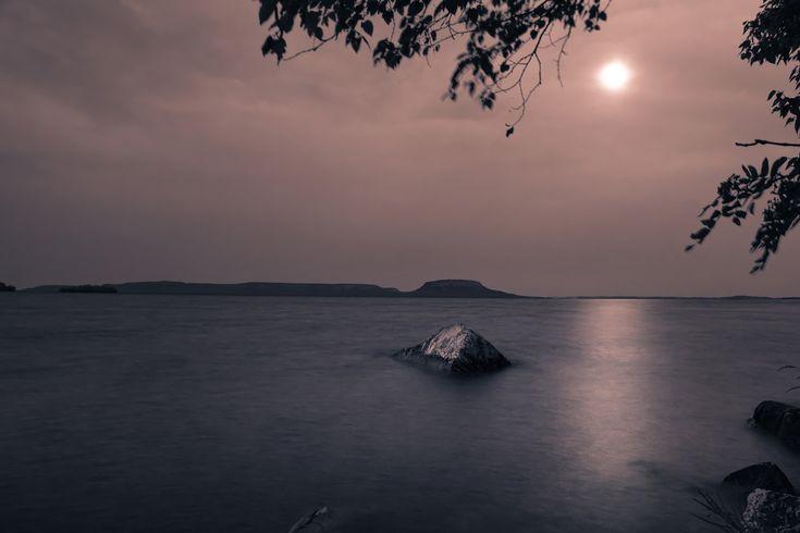 Lake Superior Moonrise - null