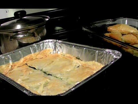GREEK SPANAKOPITA (Spinach Pie) is a classic Greek dish made with Phyllo dough, spinach, dill, green onions, feta cheese, a couple of eggs and and olive oil. This is a traditional recipe, and some times in Greece we use different kinds of greens, or a mixture of different greens and herbs for the filling