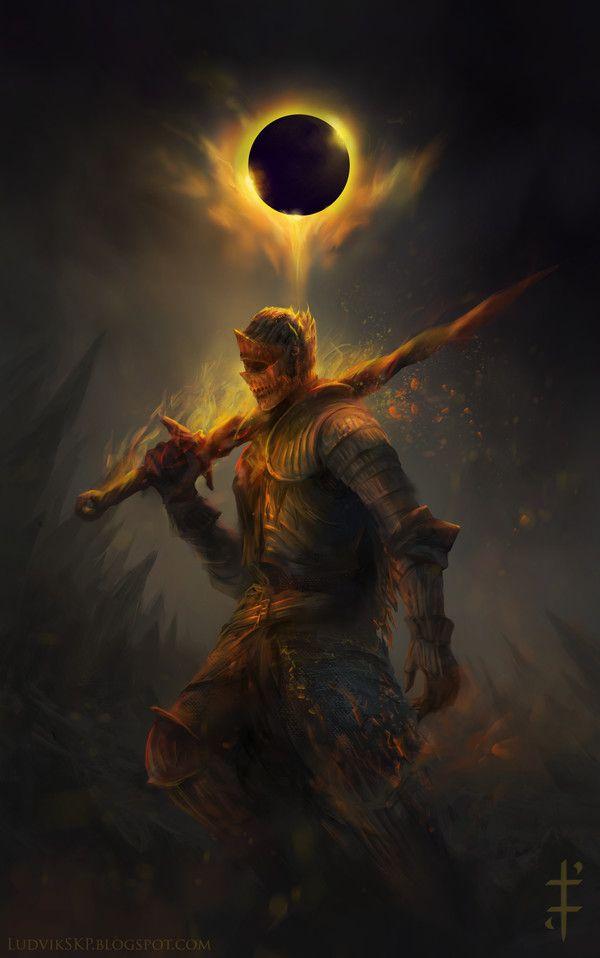 Cinders – Dark Souls III fan art by Ludvik Skopalik
