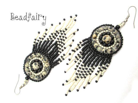 Cruella Deville Earrings by BeadfairyStore on Etsy