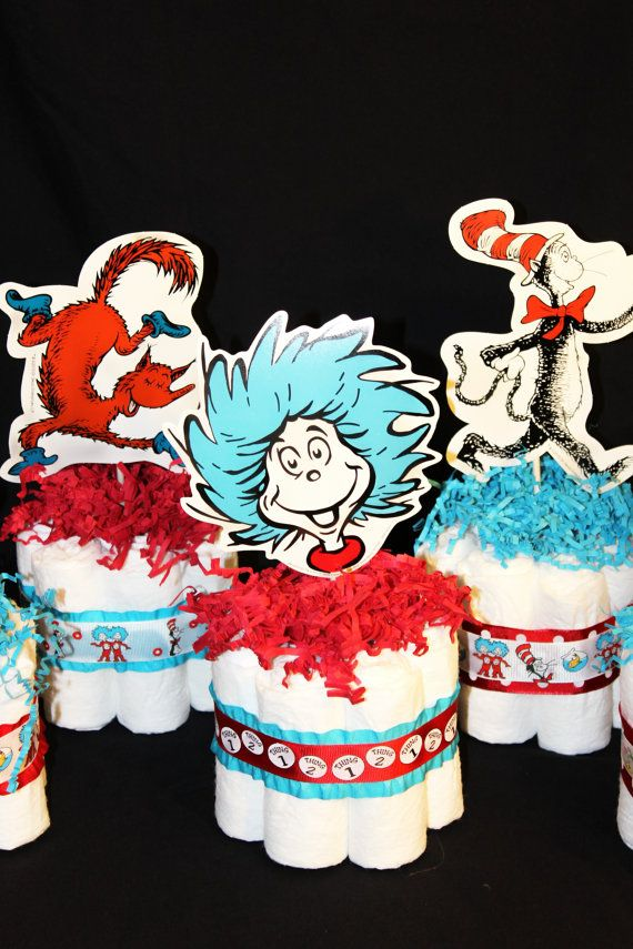 Dr Seuss Baby Shower Mini Diaper Cake Centerpieces By DesignsByBS, $9.00