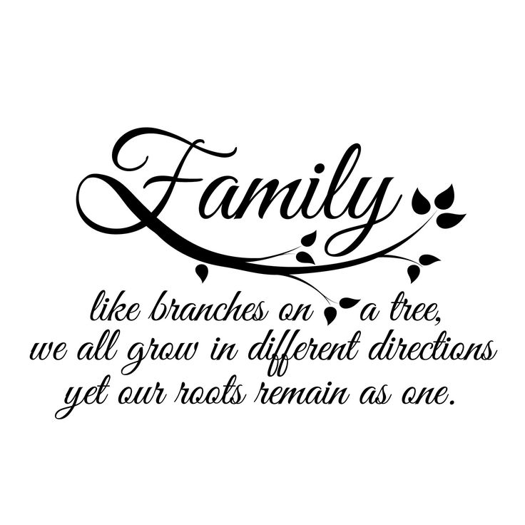 Small Family Quote in Black SALE