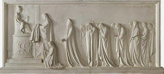 ~ Antonio Canova ~ Italian artist, 1757-1822: Ecuba e le donne troiane offrono il peplo a Pallade, 1790-1792