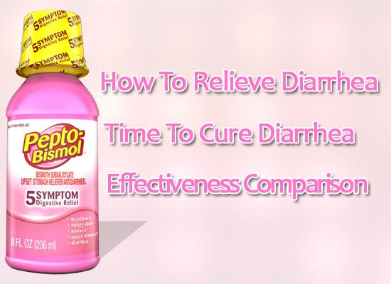 How fast does Pepto Bismol stop diarrhea compate with imodium and its side effect