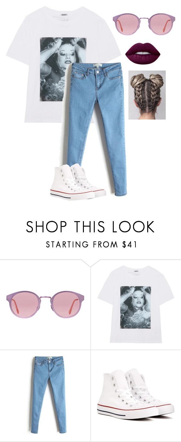 """Untitled #898"" by imagine-5sos-1d ❤ liked on Polyvore featuring RetroSuperFuture, Kenzo, Converse, Lime Crime and Imagine5sos1d_Sets"