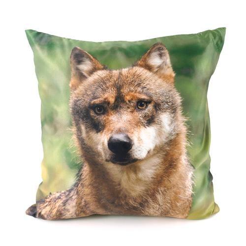 Kissen-Tiere-Fotodruck-45-x-45-cm-Leopard-Tiger-Adler-Fuchs-Eichhoernchen-Wolf